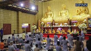 """Tụng kinh """"THUYẾT MINH VÀ XÁC MINH"""" trong Kinh Phật Cho Người Tại Gia tại chùa Giác Ngộ"""
