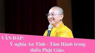 Vấn đáp: Ý nghĩa An Tĩnh - Tâm Hành trong thiền Phật Giáo | Thích Nhật Từ