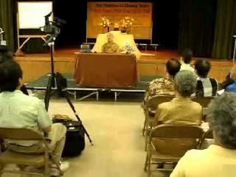 Tứ Vô Lượng Tâm: Hỷ Xã - Phần 1/2 (15/07/2007) video do Thích Nhật Từ giảng