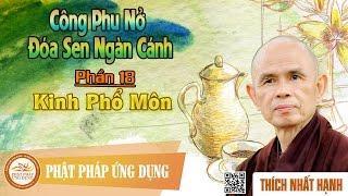 Công Phu Nở Đóa Sen Ngàn Cánh 18: Kinh Phổ Môn - Thầy Thích Nhất Hạnh