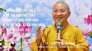 Vấn đáp Phật pháp ngày 27-08-2018 (HD) | Thích Nhật Từ