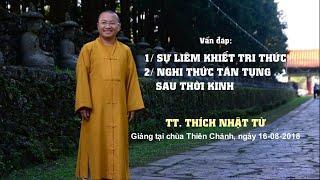 Vấn đáp Phật pháp ngày 16-08-2018 (HD) (Phần 2) | Thích Nhật Từ