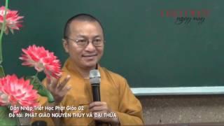 Dẫn Nhập Triết Học Phật Giáo 02: Phật Giáo Nguyên Thủy và Đại Thừa (05/01/2013) video do Thích Nhật