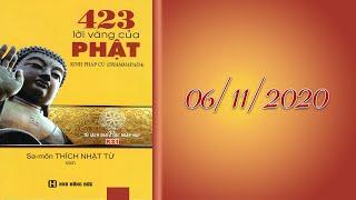 TỤNG KINH LỜI VÀNG PHẬT DẠY (Phẩm Tham Ái) tại Chùa Giác Ngộ, lúc 18h45 ngày 09-11-2020.