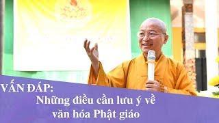 Vấn đáp: Những điều cần lưu ý về văn hóa Phật giáo | Thích Nhật Từ
