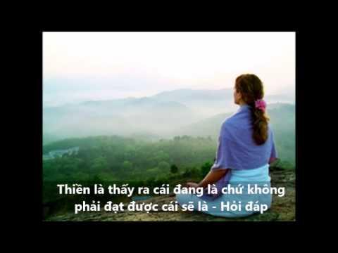 Thiền là thấy ra cái đang là chứ không phải đạt được cái sẽ là - Hỏi đáp