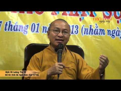 Kinh Vô Lượng Thọ 12 - Bỏ Nghi Hoặc Đạt Trí Tuệ (27/01/2013) video do TT Thích Nhật Từ giảng