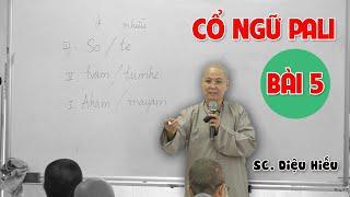 CỔ NGỮ PALI BÀI 5 - SC. DIỆU HIẾU giảng tại Chùa Giác Ngộ ngày 18/07/2020