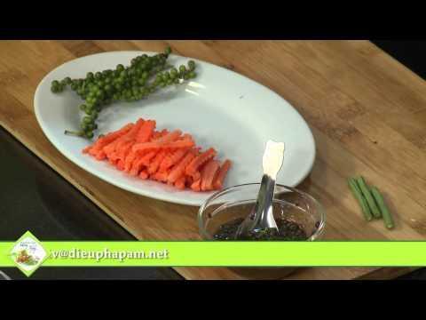 Món chay 189 - Đậu đũa xào tiêu xanh