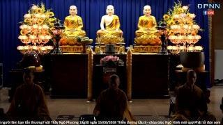 TT. Thích Nhật Từ hướng dẫn thiền Vipassana sau thời tụng kinh sáng Ngày 16-06-2018