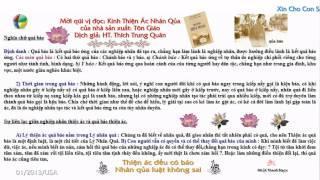 Thiện Ác Và Quả Báo (Có Phụ Đề, Nhạc Phật Giáo Kèm Theo) (Rất Hay)