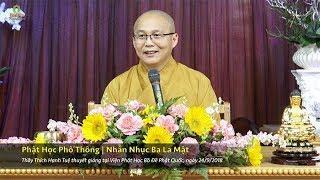 Phật Học Phổ Thông - Nhẫn Nhục Ba La Mật