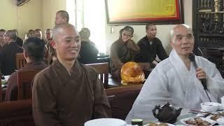 Hoà thượng Từ Nguyện sách tấn Tăng Ni tại Học viện Phật giáo Việt Nam tại Hà Nội