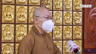 Trả lời phỏng vấn Truyền hình Nhân dân tại chùa Giác Ngộ 08-09-2021