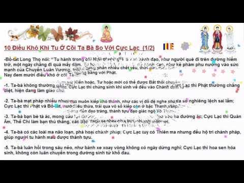 10 Điều Khó Khi Tu Ở Cõi Ta Bà So Với Cực Lạc (Tịnh Từ Yếu Ngữ - Thiền Sư Nguyên Hiền)
