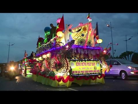 Diễu hành xe hoa mừng Đại lễ Phật đản PL. 2561 - DL. 2017 tại Bà Rịa Vũng Tàu