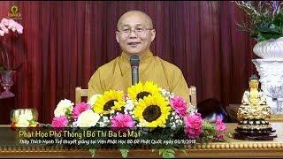 Phật Học Phổ Thông - Bố Thí Ba La Mật