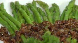 Món chay 124 - Măng tay sauce nấm