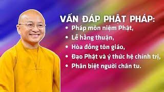 Vấn đáp Phật pháp: Pháp môn niệm Phật, lễ hằng thuận, hòa đồng tôn giáo, đạo Phật và chính trị