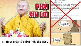 TT. Thích Nhật Từ chính thức lên tiếng về việc Báo Tuổi Trẻ Cười xúc phạm Phật giáo