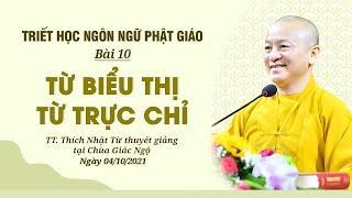 TỪ BIỂU THỊ, TỪ TRỰC CHỈ | Triết học ngôn ngữ Phật giáo | Bài 10