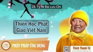 Thiền Học Phật Giáo Việt Nam 23 - Tỳ Ni Đa Lưu Chi