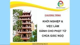 Chương trình Khởi nghiệp & Việc làm dành cho Phật tử chùa Giác Ngộ