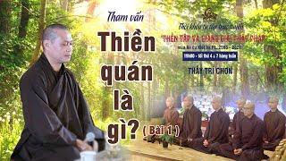 Tham vấn Phật pháp: THIỀN QUÁN LÀ GÌ? (bài 1)   Thầy Trí Chơn