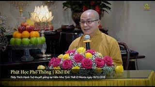 Phật Học Phổ Thông - Khổ Đế