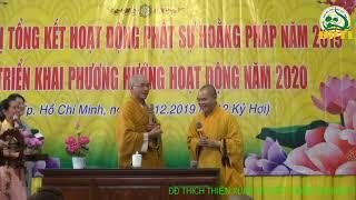 29.12.2019 ĐĐ Thích Thiện Xuân CĐ: NO TIME, NO CAN (không có thời gian, không thể) tại Chùa Hòa Khánh