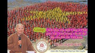 Cách nhìn của Tăng sĩ Phật giáo Việt Nam trong vấn đề độc lập dân tộc Việt Nam