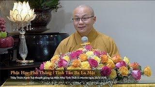 Thích Hạnh Tuệ | Phật Học Phổ Thông - Tinh Tấn Ba La Mật