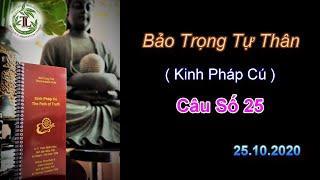 Bảo Trọng Tự Thân  Kinh PC 25-Thầy Thích Pháp Hòa (Tv Trúc Lâm.Ngày 25.10.2020)