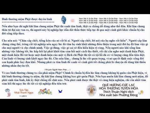 Khuyên Người Niệm Phật (Thích Nhuận Nghi dịch)
