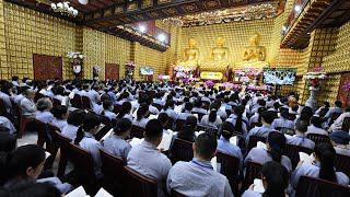 Tụng kinh trong Khóa tu Tuổi Trẻ hướng Phật ngày 04/10/2020