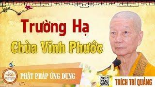 Pháp thoại của HT. Thích Trí Quảng tại chùa Vĩnh Phước (15/07/2009)