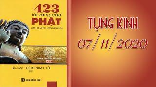 TỤNG KINH LỜI VÀNG PHẬT DẠY tại Chùa Giác Ngộ ngày 07-11-20220