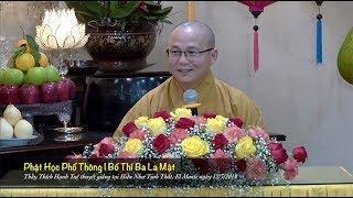 Thích Hạnh Tuệ | Phật Học Phổ Thông - Bố Thí Ba La Mật
