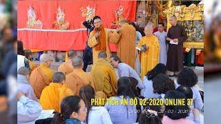 Lễ quy y Tam Bảo cho các thành viên trong đoàn hành hương Đạo Phật Ngày Nay tại Bồ Đề Đạo Tràng