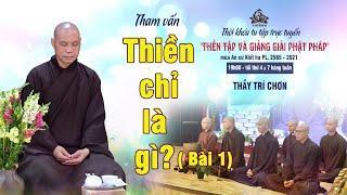 Tham vấn Phật pháp: THẾ NÀO LÀ THIỀN CHỈ? (bài 1) | Thầy Trí Chơn