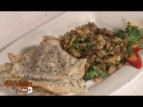 Bếp Chay: Nấm xúc bánh đa