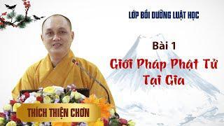 Bài 1. Giới Pháp Phật Tử Tại Gia - Thích Thiện Chơn