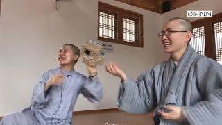 Trà đàm trong khóa tu templestay tại chùa Pháp Luân - Hàn Quốc - 04-2018