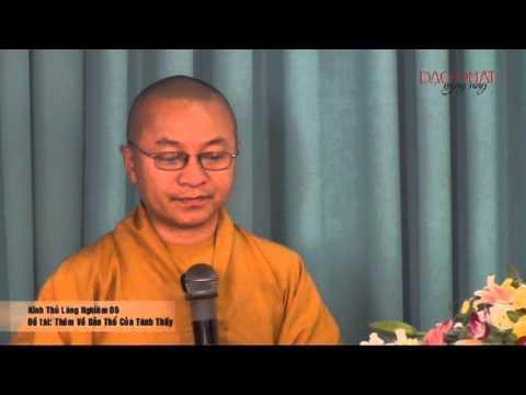 Kinh Thủ Lăng Nghiêm 05: Thêm về bản chất của tánh thấy (21/01/2013) Thích Nhật Từ giảng