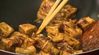 Món 55 - Đậu hũ xào trần bì