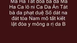 Nhạc Chú Đại Bi (Bản Việt Văn, Có Chữ)
