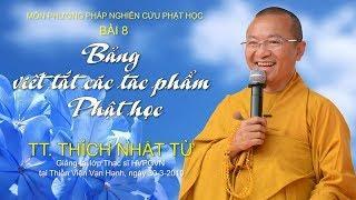 Bài 8: Bảng viết tắt các tác phẩm Phật học -  TT. Thích Nhật Từ