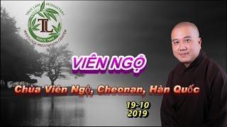 Viên Ngộ - Thầy Thích Pháp Hòa ( Chùa Viên Ngộ, Cheonan, Hàn Quốc. Ngày 19.10.2019 )