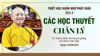 CÁC HỌC THUYẾT CHÂN LÝ   Triết học ngôn ngữ Phật giáo   Bài 4