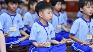 Tụng kinh trong KHÓA TU BÚP SEN TỪ BI ngày 17/10/2020   chùa Giác Ngộ
